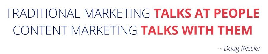 definicja content marketingu Doug Kessler