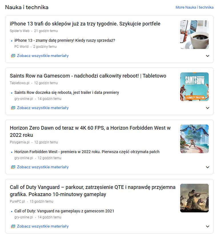 wyszukiwarka google news