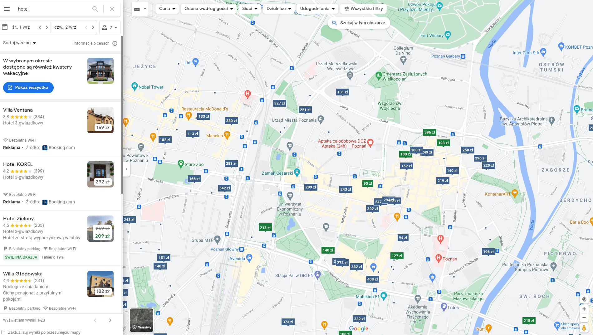 Pozycjonowanie stron Mapy Google