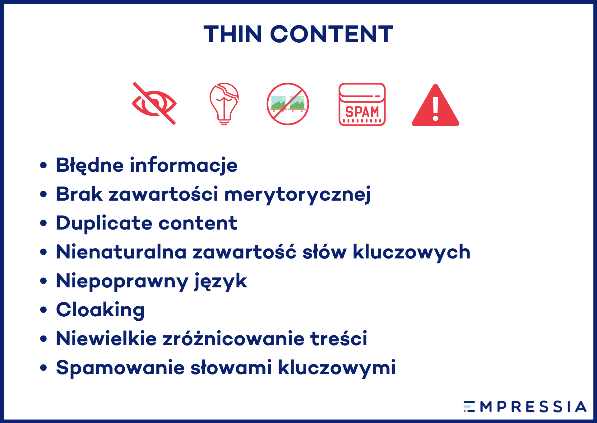 co to jest thin content